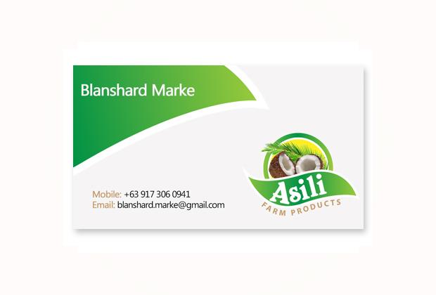 Asili farm business card design makati