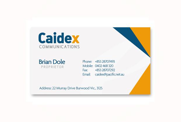 Caidex business card design cavite