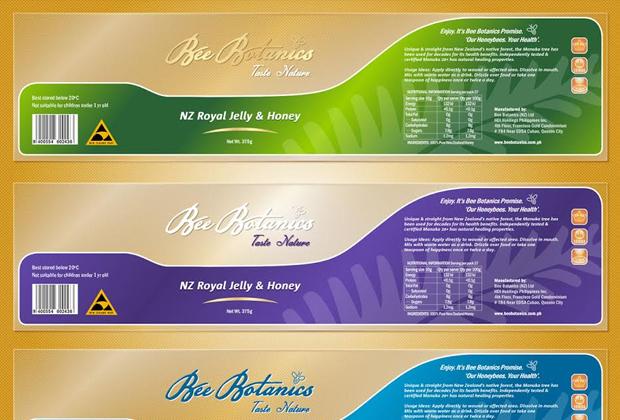 label design bee botanics ortigas